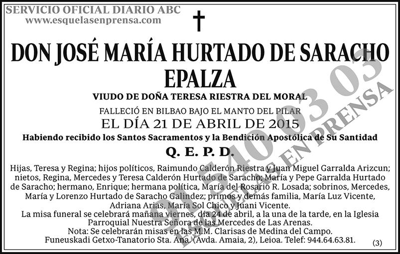 José María Hurtado de Saracho Epalza